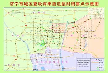 济宁城区今年的西瓜地图出炉